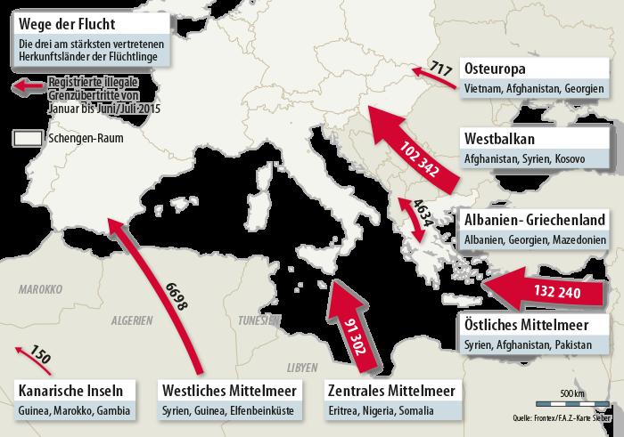Roter Teppich für Migranten