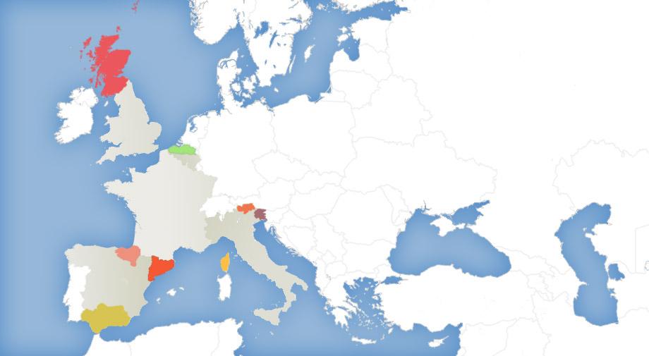 Autonome Regionen Spanien Karte.Interaktive Karte Unabhangigkeits Bewegungen In Europa